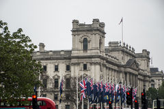 Londyńskich Dużych parlament brytyjskich flaga UK polityka fotografia stock