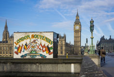Londyńskie pamiątki i Big Ben Obraz Royalty Free