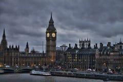 Londyńscy Big Ben zmroku nieba Obraz Royalty Free