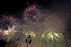Londyńscy fajerwerki Fotografia Royalty Free
