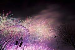 Londyńscy fajerwerki Zdjęcia Stock