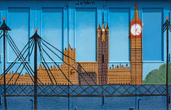 Londyńscy graffiti Fotografia Stock