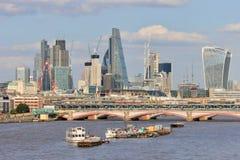 Londyńska miasto linia horyzontu w budowie Obraz Royalty Free