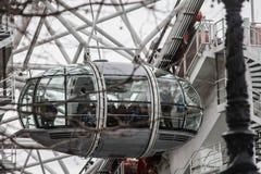 Londyńska oko gondola Fotografia Stock