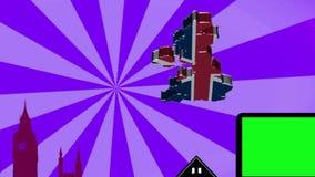 Londyńska paralaksa purpury - Sunburst - zbiory wideo