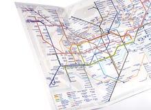 Londyńska Podziemna mapa Fotografia Stock