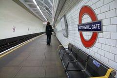 Londyńska stacja metru Zdjęcie Royalty Free
