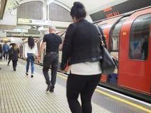 Londyńska Undergrond stacja metru w Londyn Obrazy Royalty Free