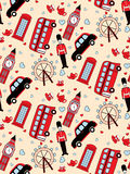 Londyński bezszwowy wzór Fotografia Royalty Free