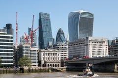 Londyński centrum finansowe Zdjęcie Stock