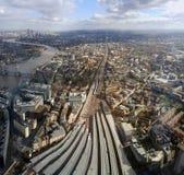 Londyński dworzec Zdjęcia Royalty Free