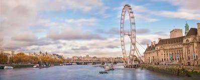 Londyński Oko, Londyn Fotografia Royalty Free