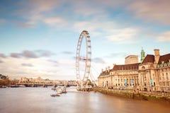 Londyński Oko, Londyn Zdjęcia Stock