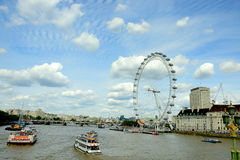 Londyński oko na Thames rzece Obrazy Stock