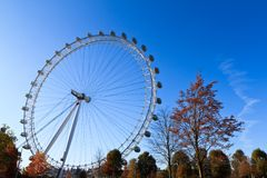Londyński oko w jesieni Zdjęcia Stock