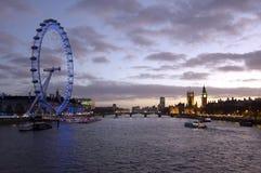 Londyński Thames krajobraz Zdjęcie Stock
