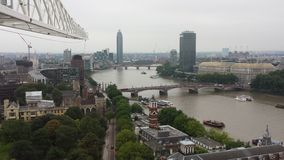 Londyński Thames Rzeczny widok, Zjednoczone Królestwo Obraz Royalty Free