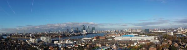 Londyński Zjednoczone Królestwo panoramiczny widok Fotografia Stock