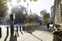 Londyńskie ulicy w jesieni Zdjęcie Royalty Free