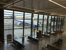 Londyńskiego Heathrow lotniska UK granica Zdjęcia Stock