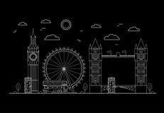 Londyńskiego miasta Cienka Kreskowa sztuka wektor Fotografia Stock