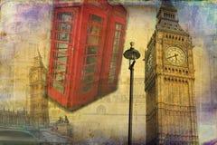 Londyńskiego sztuka projekta ilustracyjny rocznik retro Obraz Stock