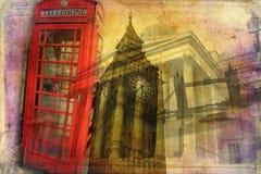 Londyńskiego sztuka projekta ilustracyjny rocznik retro Fotografia Stock