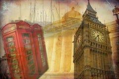 Londyńskiego sztuka projekta ilustracyjny rocznik retro Obraz Royalty Free