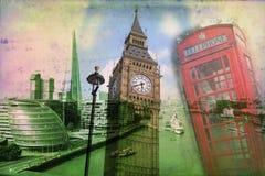 Londyńskiego sztuka projekta ilustracyjny rocznik retro Zdjęcia Royalty Free