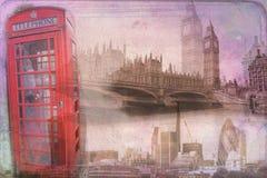 Londyńskiego sztuka projekta ilustracyjny rocznik retro Fotografia Royalty Free