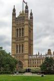 LONDYN ANGLIA, CZERWA 19 2016 Wiktoria wierza w domach parlament, -, pałac Westminister, Londyn, Anglia Obrazy Stock