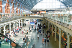 LONDYN ANGLIA, LIPIEC, - 05, 2015: St Pancras staci zawody międzynarodowi Fotografia Royalty Free