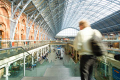 LONDYN ANGLIA, LIPIEC, - 05, 2015: St Pancras staci zawody międzynarodowi Zdjęcie Stock