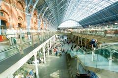 LONDYN ANGLIA, LIPIEC, - 05, 2015: St Pancras staci zawody międzynarodowi Obraz Royalty Free
