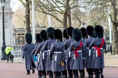Londyn Anglia, Marzec, - 06, 2017: Zmiana strażnicy w fr Zdjęcie Royalty Free