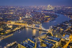 Londyn, Anglia - Powietrzny linia horyzontu widok Londyn Ten widoku inclu Zdjęcie Stock