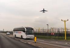 LONDYN ANGLIA, WRZESIEŃ, - 25, 2017: British Airways linie lotnicze Boeing 747 G-CIVG bierze daleko w Londyńskim Heathrow zawody  Obrazy Stock