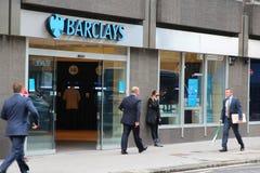 Londyn - Barclays Deponować pieniądze Zdjęcie Stock