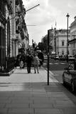 Londyn Czarny I Biały Zdjęcia Royalty Free