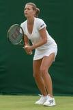 LONDYN, ENGLAND-JUNE 22, 2009: Gracz w tenisa Petra Cetkovska wewnątrz Obrazy Royalty Free