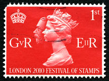 Londyn 2010 festiwal znaczek UK opłata pocztowa Zdjęcia Royalty Free