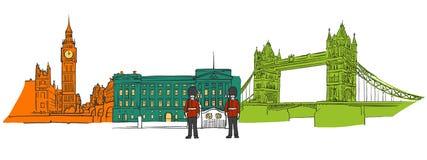 Londyn ikon sławny sztandar ilustracja wektor