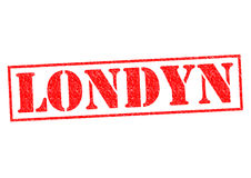 LONDYN. London Rubber Stamp over a white background Stock Photography