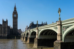 LONDYN, MAR - 13: Widok Big Ben i domy parlament ja Obraz Stock