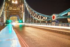 Londyn mosta światła zdjęcie royalty free