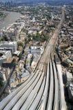 Londyn mostu stacja z wierzchu czerepu zdjęcia stock