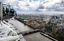Londyn od Londyńskiego oka Zdjęcia Stock