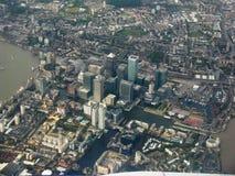 Londyn od ptasiego ` oka widoku Basztowi przysiółki Strzelający od Lithuania fotografia royalty free