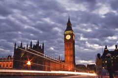 Londyn przy nocą Zdjęcia Royalty Free