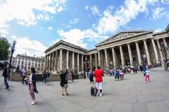 29 07 2015, LONDYN, UK - British Museum widok i szczegóły Zdjęcie Stock